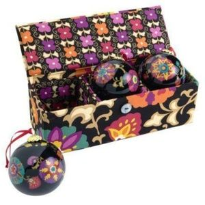 Vera Bradley Suzani Trio Christmas Ornament Set
